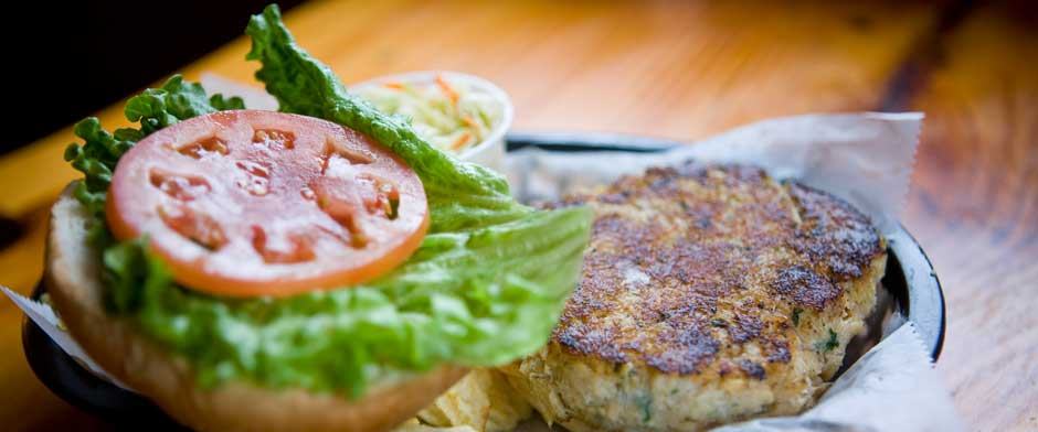 Maine Crab Cake Sandwich